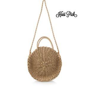 Handbags - 🔥HOST PIC🔥HANDMADE STRAW BEACH CIRCLE BAG🌟